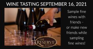 September 2021 Wine Tasting ad