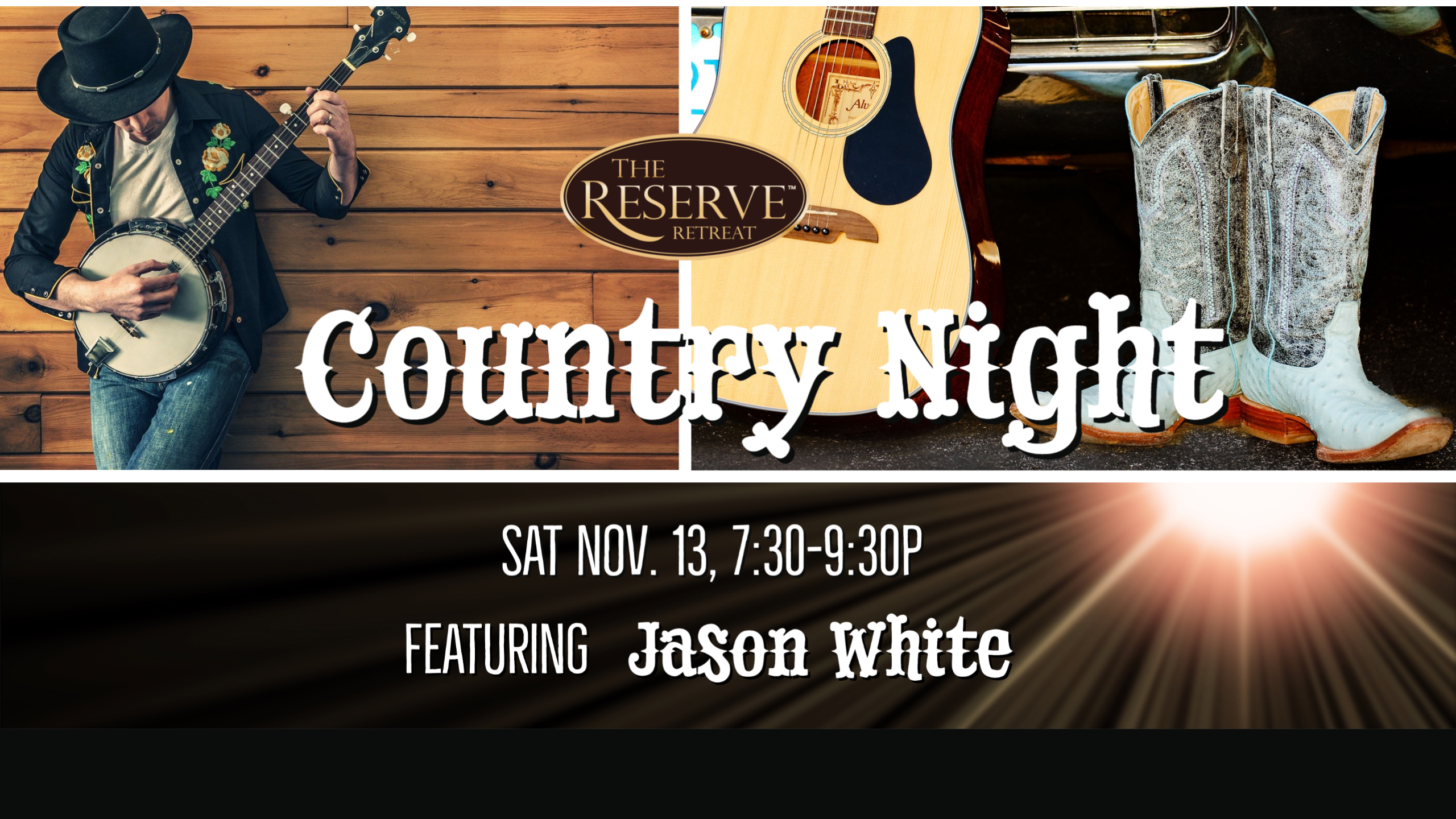 Country Night with Jason White poster